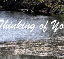 Scenic River Thinking of You Sticker