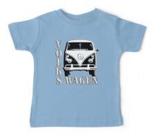 VW, CAMPER, Volkswagen, Van, Split screen, 1966, Volkswagen, Kombi, North America, on Blue Baby Tee