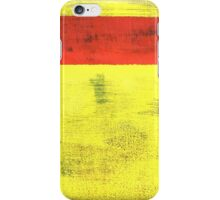 Red on Yellow 1 iPhone Case/Skin