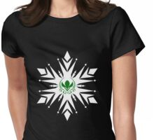 Elsa Snowflake and Arendelle Crocus Womens Fitted T-Shirt