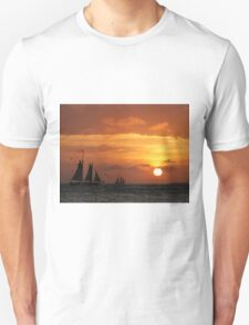 Sunset Sail in Key West III Unisex T-Shirt