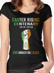Easter Rising Centenary T Shirt 1916 - 2016 Women's Fitted Scoop T-Shirt