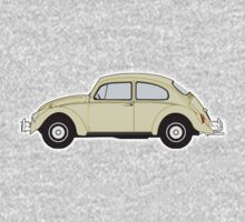 VW, Volkswagen, Beetle, Bug, Motor, Car, Cream One Piece - Long Sleeve