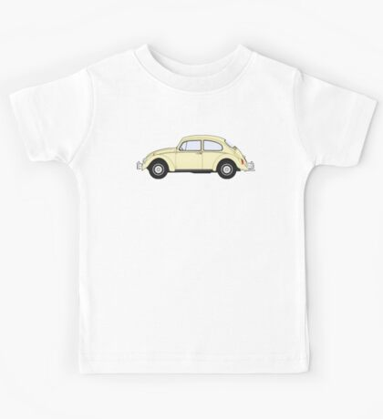 VW, Volkswagen, Beetle, Bug, Motor, Car, Cream Kids Tee