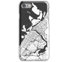 Dubai City Map Gray iPhone Case/Skin