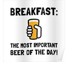 Breakfast Beer Poster