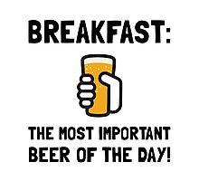 Breakfast Beer Photographic Print