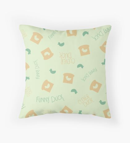 Duck Bread Pattern Throw Pillow