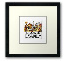 Plaza de Lavapies, Madrid Street Sign, Spain Framed Print