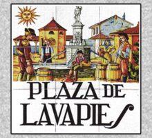 Plaza de Lavapies, Madrid Street Sign, Spain One Piece - Short Sleeve