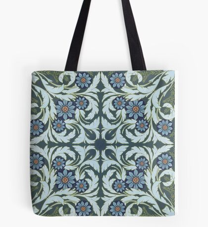 Mosaic flowers pattern Tote Bag