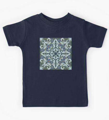 Mosaic flowers pattern Kids Tee