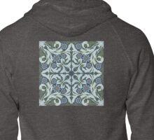 Mosaic flowers pattern Zipped Hoodie