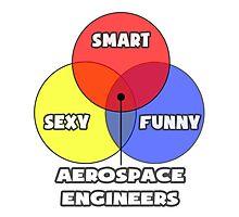 Venn Diagram - Aerospace Engineers Photographic Print