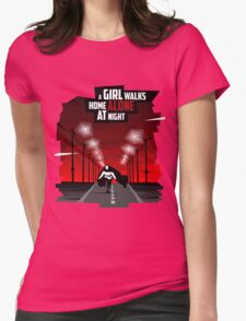 A Girl Walks Home Alone At Night Womens Fitted T-Shirt