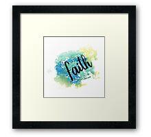 Faith hand lettering acuarela Framed Print