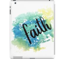 Faith hand lettering acuarela iPad Case/Skin