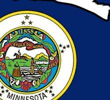 Minnesota flag fluffy cat Sticker