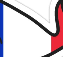 France Whale Sticker