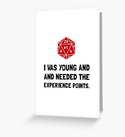 Experience Points Greeting Card