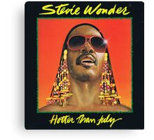 Stevie Wonder : Hotter Than July Canvas Print
