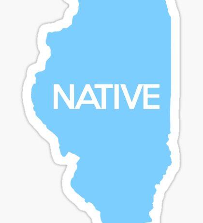 Illinois Native IL Blue Sticker