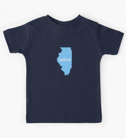 Illinois Native IL Blue Kids Tee