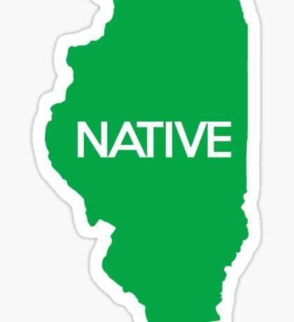 Illinois Native IL Green Sticker