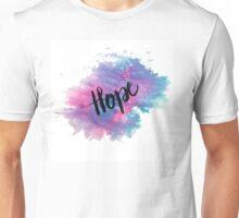 Hope handletering acuarela Unisex T-Shirt