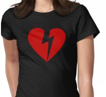 BROKEN HEART - RED Womens Fitted T-Shirt