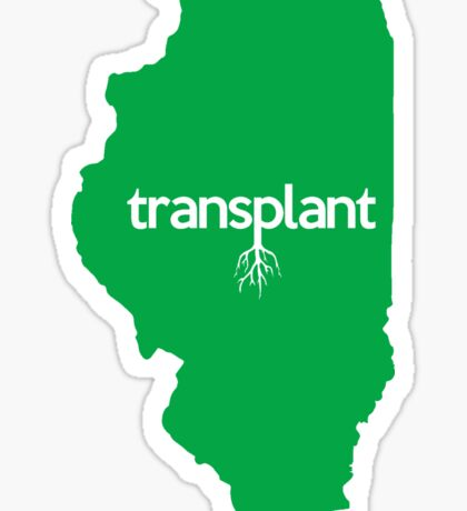 Illinois Transplant IL Green Sticker