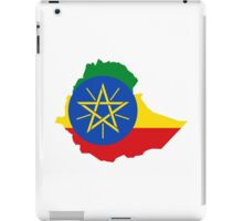 flag map of ethiopia iPad Case/Skin