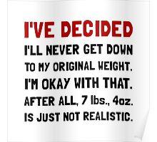 Original Weight Poster