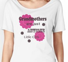 """Pink and Brown """"Grandmothers are Just Antique Little Girls"""" T Shirt Women's Relaxed Fit T-Shirt"""