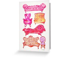 Victorian Lounge – Pink Palette Greeting Card