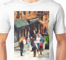Manhattan NY - Crowded Sidewalk in New York Unisex T-Shirt