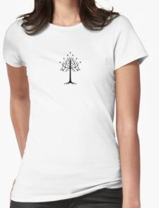 gondor tree Womens Fitted T-Shirt
