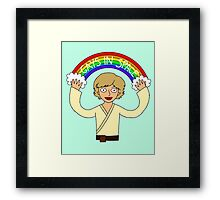 Gays In Space Framed Print