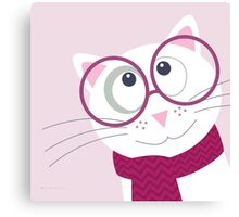 Cat with glasses Canvas Print