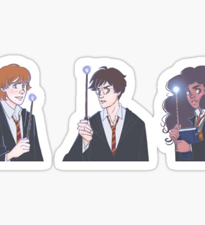 The Golden Trio in the Great Hall Sticker