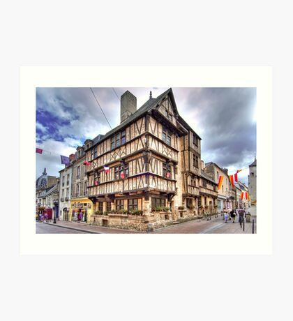 The oldest half-timbered house in Bayeux (13th c) Art Print