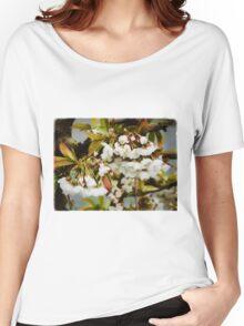 Flower Art - Apple Blossoms Women's Relaxed Fit T-Shirt