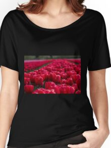 Sea Of Red Tulips Women's Relaxed Fit T-Shirt