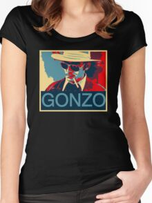 Gonzo: Hunter S. Thompson Women's Fitted Scoop T-Shirt
