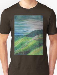 Green Hills Oil Pastel Drawing T-Shirt