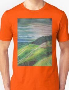 Green Hills Oil Pastel Drawing Unisex T-Shirt