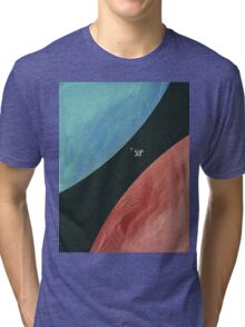 Earth collides with Mars Tri-blend T-Shirt
