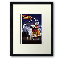 Rick And Morty Back To The Future Mash-Up Framed Print