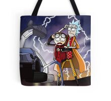 Rick And Morty Back To The Future Mash-Up Tote Bag