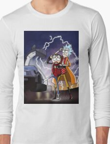 Rick And Morty Back To The Future Mash-Up Long Sleeve T-Shirt
